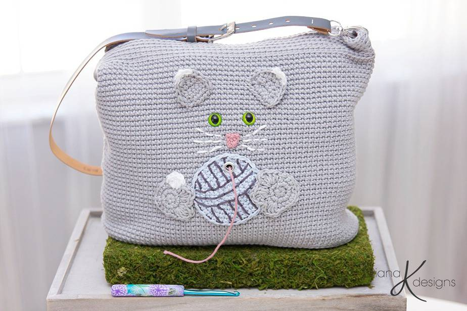 Cat Yarn Project Bag